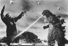 Godzilla and King Kong movies on Saturdays Cool Monsters, Famous Monsters, Classic Monsters, King Kong Vs Godzilla, Godzilla Godzilla, Old Posters, Giant Monster Movies, Japanese Monster, Old Movies