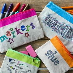 Save this school supply DIY to make bags decorated with Sharpies.