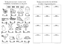Grade R Worksheets, Free Printable Alphabet Worksheets, Napoleon Hill, 2nd Grade Spelling Words, Afrikaans Language, Teacher Helper, Spanish Language Learning, Preschool Learning, Vocabulary Words