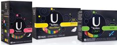 BOLD & HONEST. New tampon packaging from Kotex moved away from the demure messaging traditional in the category to bold graphics and honest ...
