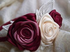 Daydreams in lace: HOW TO: ribbon roses