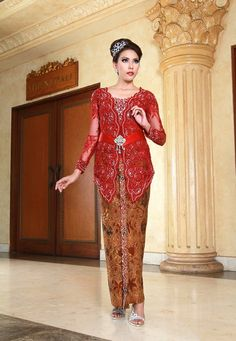 Marron kebaya modern dress