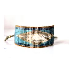Handwoven bracelet made with tiny glass Japanese beads. These are high-quality beads, very soft and regular. The result is a light and smooth bracelet, really