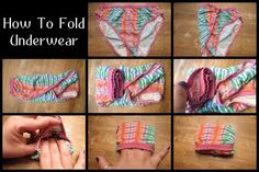 Your drawers fit more than you think. Try these 10 ways to fold clothes and save major space - - Your drawers fit more than you think. Try these 10 ways to fold clothes and save major space. Diy Organizer, Organization Hacks, How To Fold Underwear, Organiser Son Dressing, Underwear Organization, Folding Laundry, Ideas Prácticas, Diy Clothes, Fold Clothes