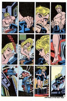 Captain America n°145 (january 1972). Illustrators: Gil Kane (Pencils) & John Romita (Inks).