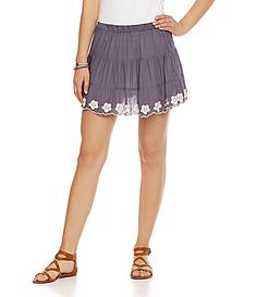 Chelsea and Violet Embroidered Tiered Skirt #Dillards