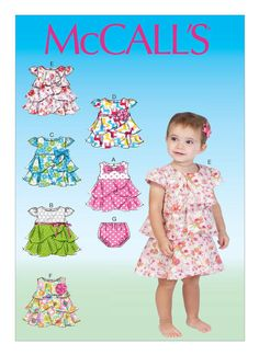 Items similar to Sewing Pattern Toddlers' Dress and Panties Pattern, Baby Dress Pattern, Sz 8 to 29 lbs, McCall's Sewing Pattern 7072 on Etsy Toddler Sewing Patterns, Sewing Kids Clothes, Mccalls Sewing Patterns, Sewing For Kids, Babies Clothes, Baby Girl Dresses, Baby Dress, Baby Sewing Projects, Heirloom Sewing