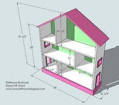 DIY Projects Dollhouse Bookcase Woodworking Plans by Ana White Dollhouse Bookcase, Bookcase Plans, Dollhouse Furniture, Girls Dollhouse, Diy Dollhouse, Victorian Dollhouse, Diy Furniture Plans, Barbie Furniture, White Furniture