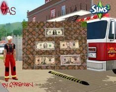 Floor mats Dollar  Das Geld liegt auf der Straße, oder zumindest vor der Tür.  The money lies on the road, or at least outside the door.  By Fireman1984  https://www.allaboutsims.net/forum/index.php/Thread/16239-Fu%C3%9Fmattenset-Dollar/?postID=78475#post78475