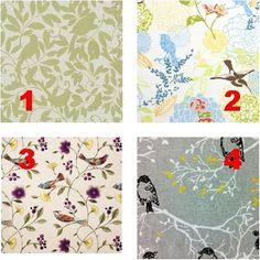 FOR the BIRDS - Lamp Shade Fabric Collection - 4 Designs - Custom Lamp shade - Bathroom Decor - Vanity Lighting - Light Cover - Lamp shade