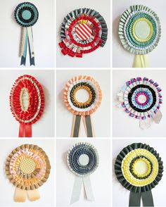 A colorful display of ribbons