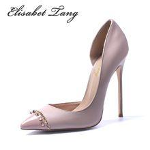 5e3a4ef5141b0 Nouveau Style De Mode Rivets de Haute Qualité Bout Pointu Sexy Femmes  Chaussures…