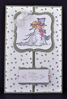 Inky Fingers: Lily of the Valley wedding card