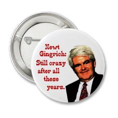 Newt Gingrich, Still Crazy After All These Years Pin
