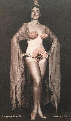 Las Vegas Showgirls postcard