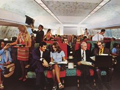 Continental Airlines DC-10 Coach Cabin