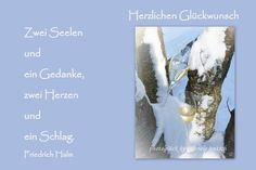 """JanuarKristall Hochzeitskarte  """"Gläser im Schnee"""" von PHOTOGLÜCK auf DaWanda.com"""