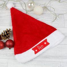 Personalised Star Santa Hat Christmas Tree Baubles, Christmas Eve Box, Christmas Themes, Christmas Stockings, Christmas Decorations, Holiday Decor, Work Party, Secret Santa Gifts, Santa Hat