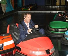 I have no idea what you're talking about, so here's a picture of Hugh Laurie driving a bumper car.