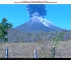 Ash explosion on March 2. Three webcams cover Momotombo volcano and are run by INTER