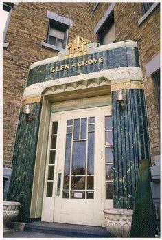 Glen Grove apartments entrance Art Deco Architecture in Toronto Art Nouveau, Modernisme, Streamline Moderne, Inspiration Art, Art Deco Buildings, Art Deco Home, Building Art, Art Deco Furniture, Art Deco Design
