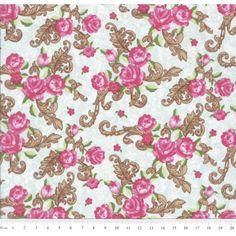 Tricoline estampa Flor | Tecidos da Ali | Elo7