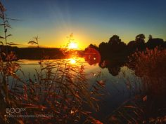 Sunset over the lake by spikerbagger. Please Like http://fb.me/go4photos and Follow @go4fotos Thank You. :-)