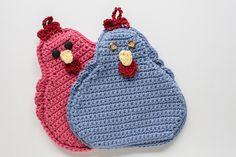 hot pad, pot holder, crochet pot holder, crochet chicken, kitchen decor by AliciaEllenich on Etsy