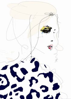 RESERVED listing for teresesol - Draw the Line - Fashion Illustration Art Print