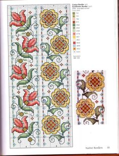 (3) Gallery.ru / Фото #36 - *** - paradisea Small Cross Stitch, Beaded Cross Stitch, Cross Stitch Borders, Cross Stitch Flowers, Cross Stitch Charts, Cross Stitch Designs, Cross Stitching, Cross Stitch Patterns, Embroidery Monogram