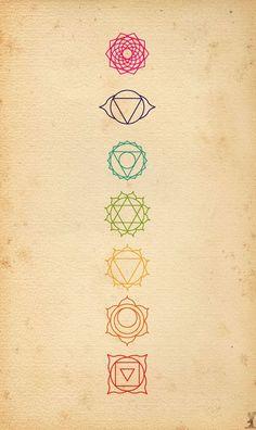 Idee: Chakra Symbole Da ich mich mit Spiritualität und Chakren beschäftige. Meine Favoriten wenn man nur eins nimmt, wären entweder das oberste oder das grüne...aber dann halt in schwarz, bzw weiß.