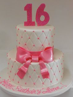 New birthday cake for teens pink sweet 16 ideas Sweet Sixteen Cakes, Sweet 16 Cakes, Sweet Sixteen Parties, Cute Cakes, Sweet 16 Birthday Cake, Birthday Cakes For Teens, 16th Birthday, Girl Birthday, Happy Birthday