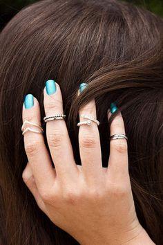 Silver Midi Rings from #earthboundtrading