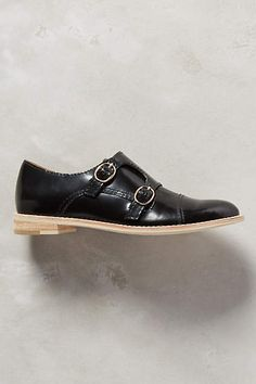 All Black Monkstrap Oxfords - anthropologie.com