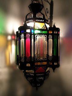 Badia Design Inc Store - Moroccan Hanging Multiple Color Lantern LIG297, $217.60 (http://www.badiadesign.com/moroccan-hanging-multiple-color-lantern-lig297/)