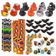 Halloween Toy Novelty Assortment Ducks Pencils Erasers Stickers Tatooes 156 Pcs