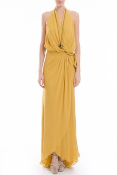 Halter Ruffle Gown-yes please