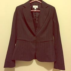 MNG black w/stripes blazer size 8 Mango brand. Blazer. Black with vertical slim lines. Size 8. Used two max 3 times. Excellent condition. Mango Jackets & Coats Blazers