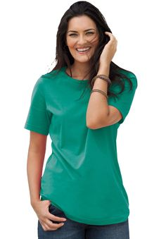 not a tunic--but I love the sleeve length and the length of the shirt and width of the neck--perfect t-shirt