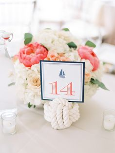 Photography : Love By Serena Read More on SMP: http://www.stylemepretty.com/maryland-weddings/2015/07/21/nautical-navy-peach-chesapeake-bay-wedding/