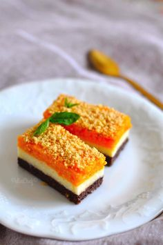 Three Colored Semolina Dessert with Pumpkin, Cookie Recipes Honey Dessert, My Dessert, Pumpkin Dessert, Cookie Recipes, Dessert Recipes, Delicious Desserts, Yummy Food, Food Picks, Bakery Cakes