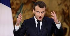 French President Macron warns EU leaders to present united front and not all for 'prisoner's dilemma' as Brexit negotiations progresses. Mr Johnson, Boris Johnson, Empire State, Gq, Banking Crisis, Judicial Branch, Interview, Raised Eyebrow, Prince Charles And Camilla