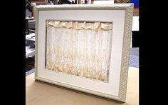Save Pieces Of Your Wedding Dress As A Mat For Photos And Other Interesting Recycle Ideas