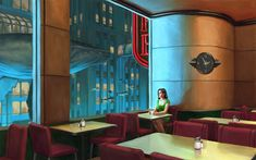 What if American painter Edward Hopper had lived in Rapture. Art Prints --> HERE Night Coffee ( Hopper went to Rapture ) Edward Hopper Paintings, Framed Art Prints, Canvas Prints, Canvas Art, Night Coffee, Underwater City, The Legend Of Zelda, Dieselpunk, Art Plastique