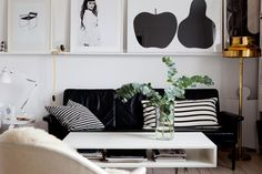 Black & white, add a touch of brass - love it!