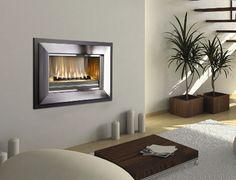 sleek fireplace feature wall in bedroom