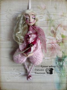"""Купить Ангел """"Весенние трели"""". - бледно-розовый, розовый, нежно-розовый, ангелок, ангел, весна"""