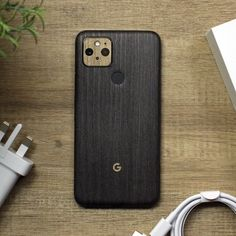Google Pixel 5 - Silverblack Wood and Modern Oak Skin Back Camera, Brushed Metal, Phone Stand, New Phones, Countries Of The World, Carbon Fiber, Natural Stones, Bubbles, Smartphone