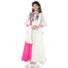 World's Most Selling Peacock  pink color Gown type Salvar Suit