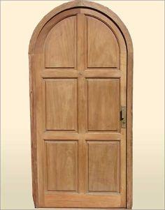 Single Entry Door . Dazzling arched entry door in mahogany wood. Notice the original handle & Single Entry Door . Beautiful arched door in mahogany wood. Antique ...